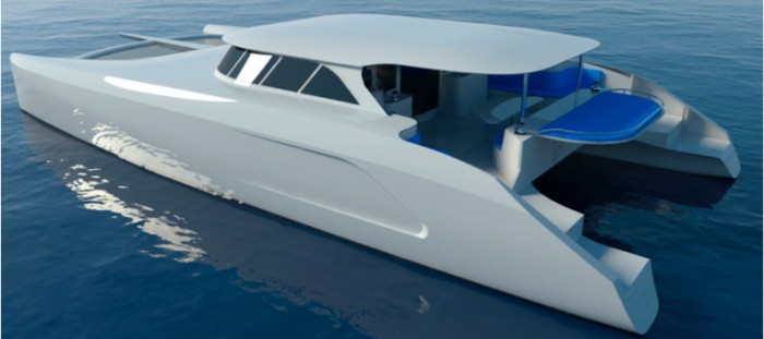 60 ft custom electric catamaran