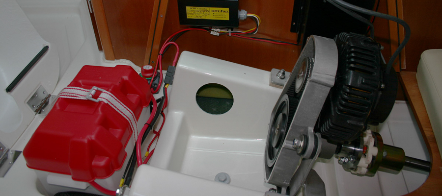 jeanneau sun 2500 electric motor installation