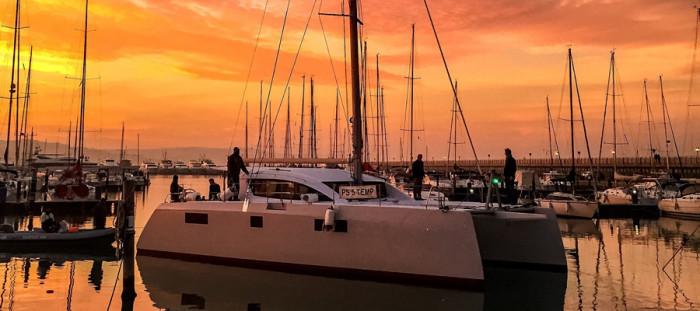 slyder 47 hybrid catamaran