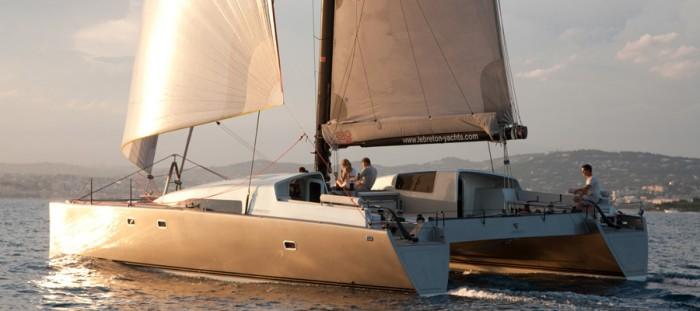 lebreton yachts sig 45 electric charter catamaran charter