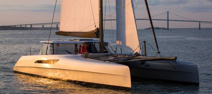gunboat 55 electric catamaran sea system