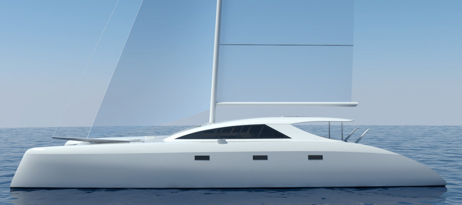 schionning g-force 2000 speciale electric catamaran