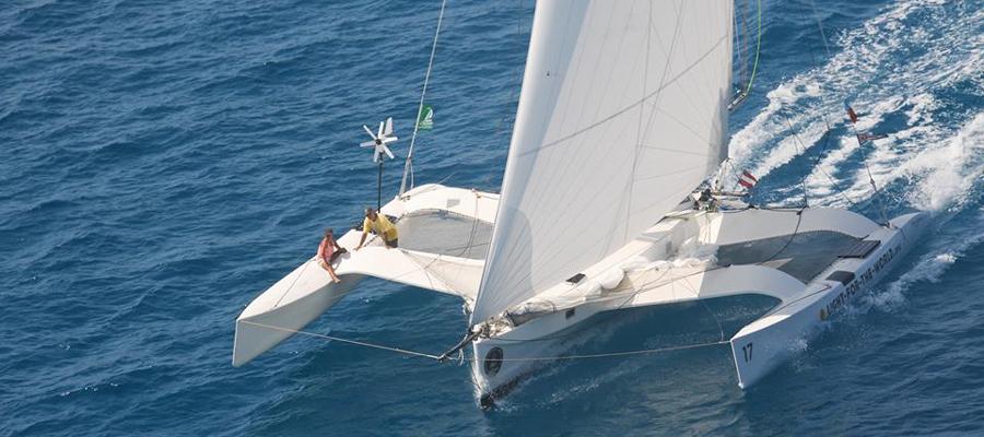 ave gitana electric racing trimaran oceanvolt