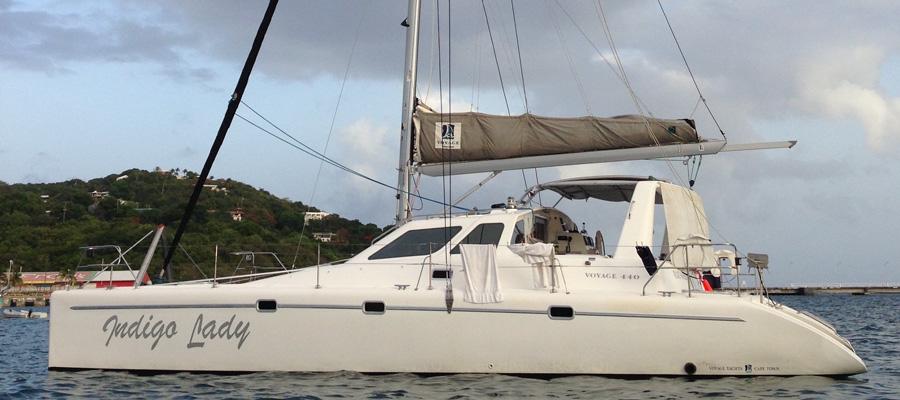 oceanvolt voyage 440 hybrid catamaran